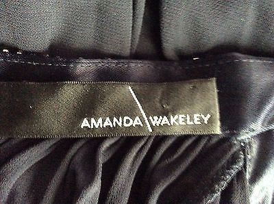Amanda Wakeley Black Diamante Straps Pleated Cocktail Dress Size 8 - Whispers Dress Agency - Womens Eveningwear - 4