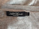 All Saints Grey Estera Cut Out Detail Cardigan Size 8 - Whispers Dress Agency - Sold - 5