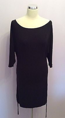 Brand New With Tags Calvin Klein Black Scoop Neck Stretch Dress Size 12 - Whispers Dress Agency - Womens Dresses - 1