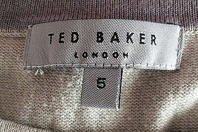 Ted Baker Beige Crew Neck Silk & Cotton Blend Jumper Size 5 Approx L - Whispers Dress Agency - Mens Knitwear - 2