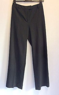 Hobbs Dark Grey Wool Formal Trousers Size 10 - Whispers Dress Agency - Sold - 1