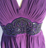 Monsoon Purple Silk Bead & Sequin Trim Occasion Dress Size 14 - Whispers Dress Agency - Womens Special Occasion - 2