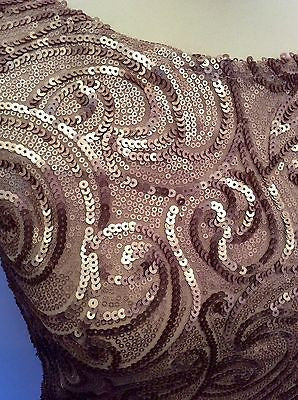 Brand New Jane Norman Gold Sequin Swirl Dress Size 14 - Whispers Dress Agency - Clearance - 2