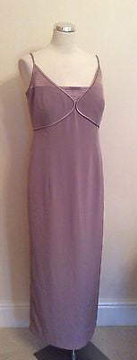 John Charles Mink Strappy Evening Dress Size 16 - Whispers Dress Agency - Womens Eveningwear - 1