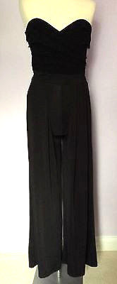 Lipsy Black Strapless Jumpsuit Size 10 - Whispers Dress Agency - Womens Jumpsuits & Playsuits - 1