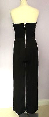 Lipsy Black Strapless Jumpsuit Size 10 - Whispers Dress Agency - Womens Jumpsuits & Playsuits - 3