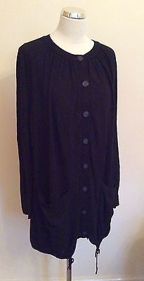 Jigsaw Black Long Cardigan Size L - Whispers Dress Agency - Sold - 1