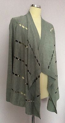 Per Una Grey Open Front Design Cardigan Size 16 - Whispers Dress Agency - Sold - 1