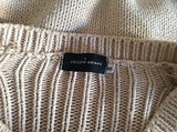 Joseph Homme Beige Cotton V Neck Jumper Size S - Whispers Dress Agency - Mens Knitwear - 3