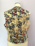 East Floral Print Brushed Cotton Waistcoat Size 16 - Whispers Dress Agency - Sold - 2