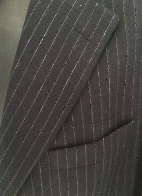 Smart Daks Black Pinstripe Wool Suit Jacket Size 44S - Whispers Dress Agency - Mens Suits & Tailoring - 3