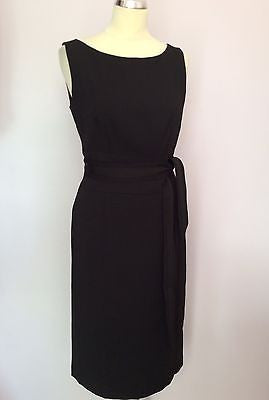 Betty Barclay Collection Black Tie Belt Pencil Dress Size 10 - Whispers Dress Agency - Womens Dresses - 1