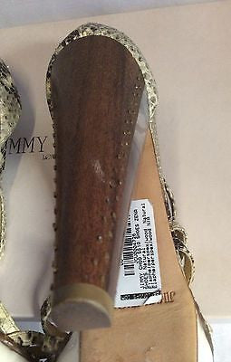 Jimmy Choo Zena Snakeskin Perspex Heel Strappy Sandals Size 6.5/40 - Whispers Dress Agency - Womens Sandals - 5
