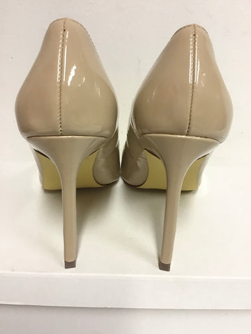 BRAND NEW CARVELA BY KURT GEIGER NUDE PATENT HEELS SIZE 5/38
