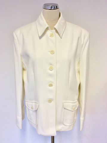 BRAND NEW ARTIGIANO WHITE COTTON BLEND JACKET SIZE 20