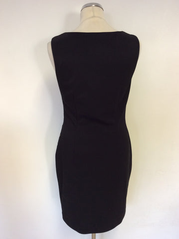FRANK LYMAN BLACK & GOLD TRIM SPECIAL OCCASION PENCIL DRESS SIZE 12