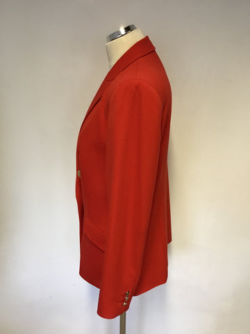 BRAND NEW MARKS & SPENCER RED DOUBLE BREASTED BLAZER SIZE 14