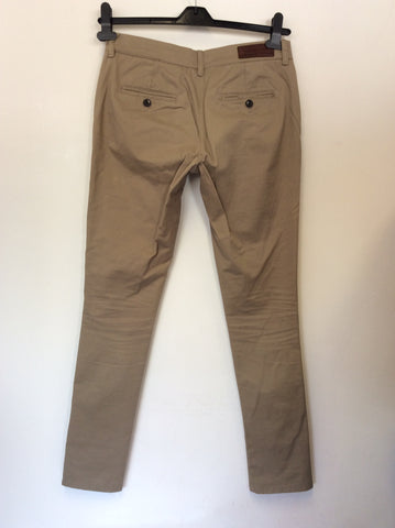 ALL SAINTS LIGHT BROWN FILTER CHINO TROUSERS SIZE 10