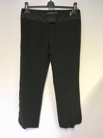 KAREN MILLEN BLACK TUX EVENING TROUSERS SIZE 10