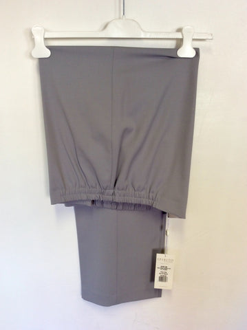 BRAND NEW ARTIGIANO SILVER GREY WOOL BLEND STRETCH PULL ON TROUSERS SIZE 20
