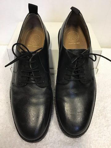 BRAND NEW KURT GEIGER BLACK LEATHER LACE UP SHOES SIZE 9/43