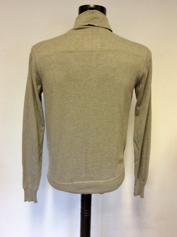 All Saints Light Grey Salta Funnel Neck Top Size S