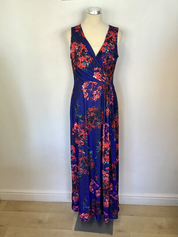 BRAND NEW MONSOON NAVY BLUE FLORAL PRINT MAXI DRESS SIZE 12