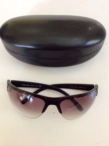 PRADA BLACK SUNLASSES WITH CASE