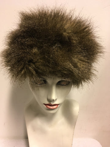 MARKS & SPENCER BROWN FAUX FUR HAT