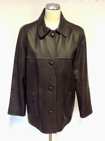 BLARNEY WOOLLEN MILLS BROWN LEATHER JACKET SIZE M