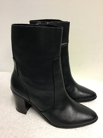 BRAND NEW MARKS & SPENCER TEAL LEATHER ANKLE BOOTS SIZE 7/40