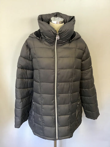 MICHAEL KORS GREY LIGHT WEIGHT PADDED PACKABLE JACKET SIZE XXL
