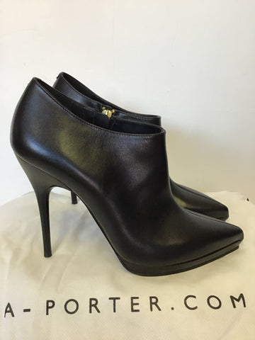 BRAND NEW & OTHER STORIES BLACK LEATHER HIGH HEEL STILETTO SHOE/ BOOTS SIZE 5/38