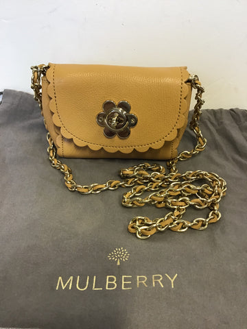 BRAND NEW MULBERRY BISCUIT MINI CECILY FLOWER BAG