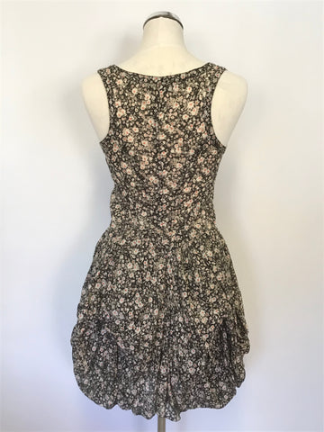 ALL SAINTS DITZY EZRA FLORAL PRINT SLEEVELESS PARACHUTE SKIRT COTTON DRESS SIZE 8