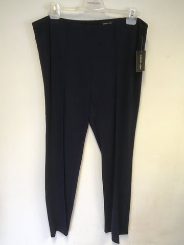 BRAND NEW BARBARA LEBEK NAVY BLUE STRETCH TROUSERS SIZE 20