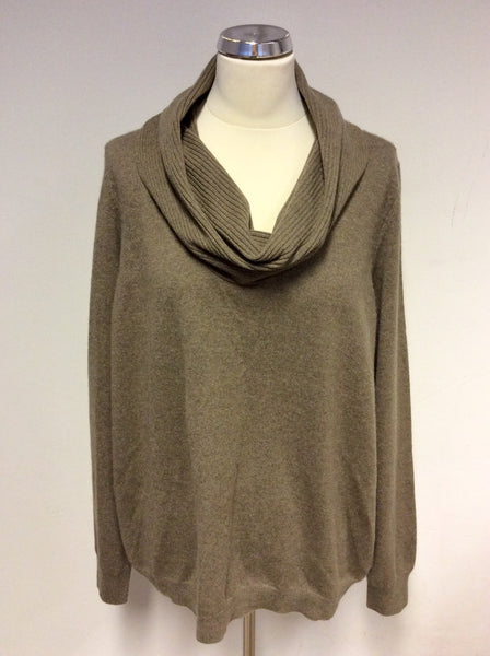 BRAND NEW MARKS & SPENCER TRUFFLE BROWN CASHMERE JUMPER SIZE 22