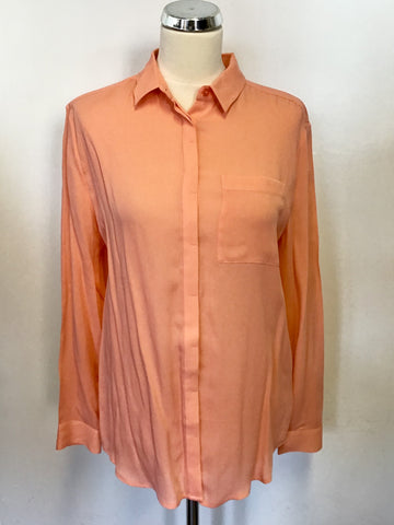 BRAND NEW JACK WILLS CORAL BAMBER SILK LONG SLEEVE SHIRT SIZE 10