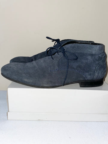 HUDSON DARK GREY SUEDE LACE UP CHUKKA BOOTS SIZE 8/42