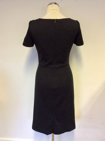 LK BENNETT DARK GREY WOOL PENCIL DRESS SIZE 8