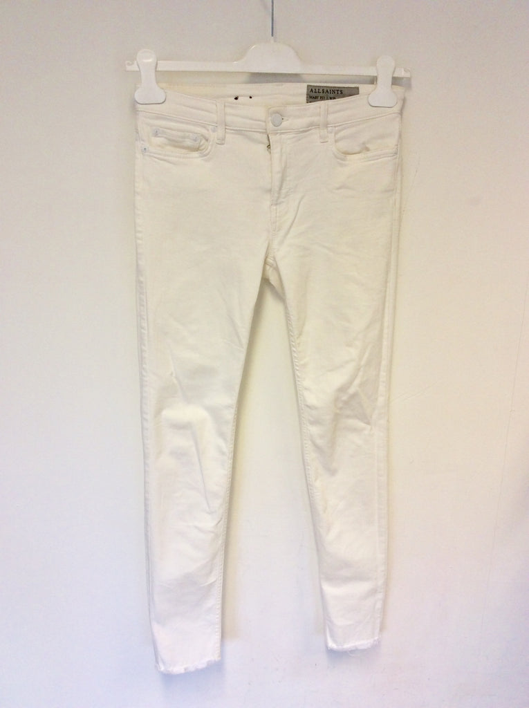 wholesale online low priced stable quality ALL SAINTS MAST FRAY OFF WHITE SKINNY LEG JEANS SIZE 29 W ...