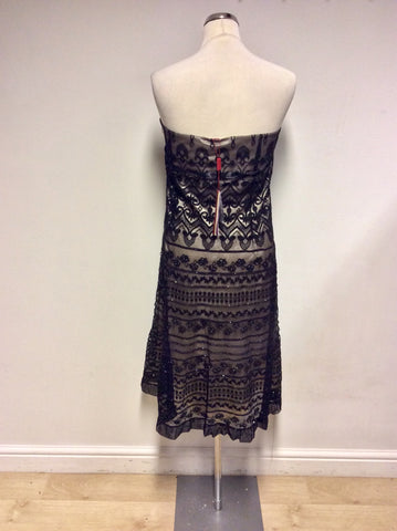 BRAND NEW MONSOON BLACK STRAPPY /STRAPLESS DRESS SIZE 22