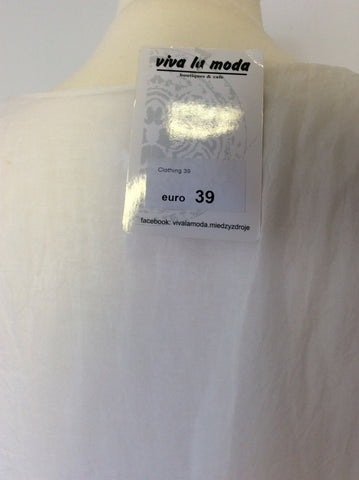 BRAND NEW VIVA LA MODA WHITE SILK SHIFT DRESS ONE SIZE