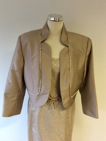 BRAND NEW DRESS CODE BY VEROMIA BRONZE DRESS & JACKET SUIT SIZE 18