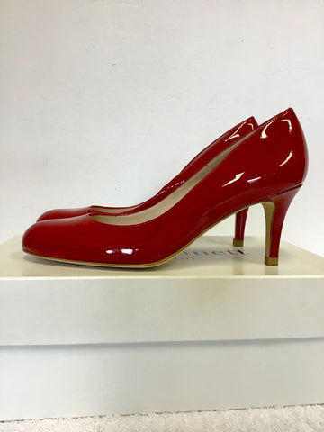 BRAND NEW IN BOX LK BENNETT SABIRA RED PATENT LEATHER HEELS SIZE 4/37