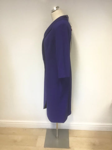 BRAND NEW NATALYIA COUTURE ROYAL BLUE 3/4 SLEEVE COAT STYLE SAMANTHA DRESS SIZE 16