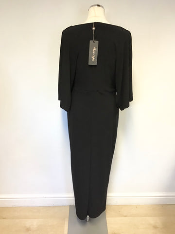BRAND NEW PHASE EIGHT BLACK KIMONO SLEEVE MAXI DRESS SIZE 12
