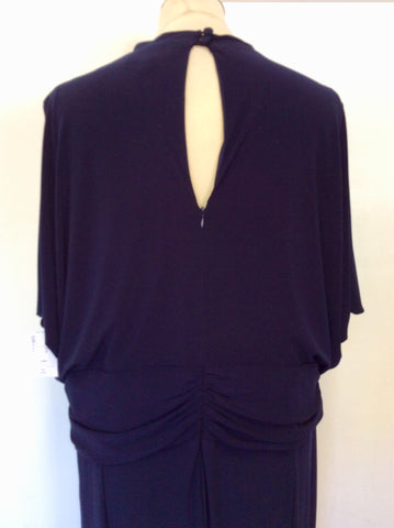 BRAND NEW STUDIO 8 NAVY BLUE SLEEVELESS JUMPSUIT SIZE 24