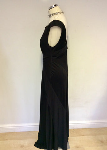 BRAND NEW WITH DEFECT JOSEPH RIBKOFF BLACK FULL LENGTH EVENING DRESS SIZE 16