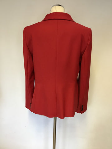 BRAND NEW HOBBS RED WOOL BLEND WIDE LEG TROUSER SUIT SIZE 12/14